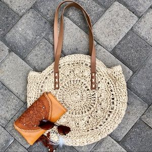 Handbags - 🌟WOVEN STRAW BOHO ROUND RUSTIC SHOULDER BAG/PURSE